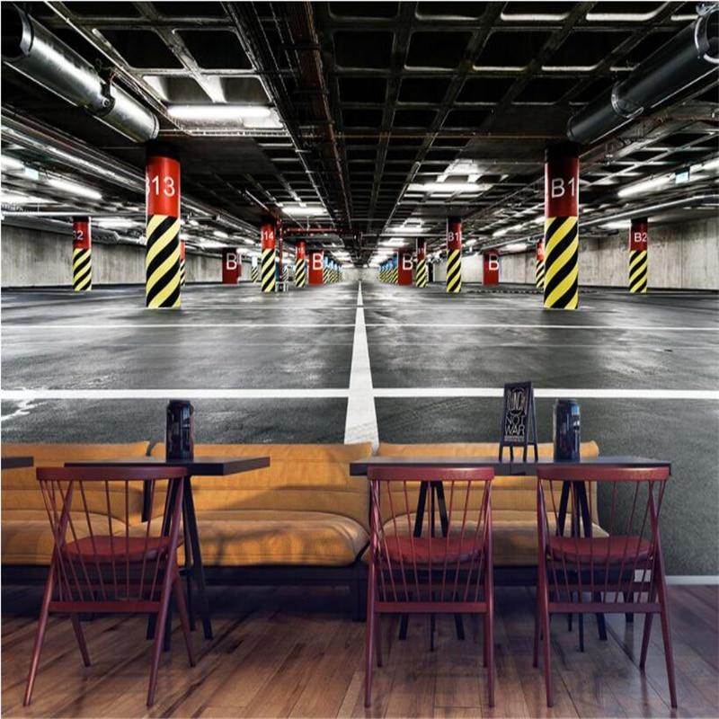 Parking Near The Living Room Boston: Beibehang Custom Wallpaper 3d Underground Parking Wall