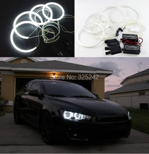Para Mitsubishi Lancer Evo X X 10 NO Proyector 2007-2015 Excelente Ultrabright iluminación CCFL Angel Eyes kit Anillo de Halo