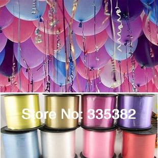 wholesale 5pcs/lots 5mm 500yards amboss balloon ribbon for wedding party birthda