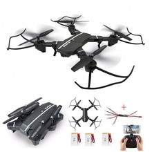 Selfie Drone With Camera Foldable Drone Fpv Dron Rc Drone Rc Helicopter Remote Control Toy For Kids Vs Visuo Xs809hw(China)