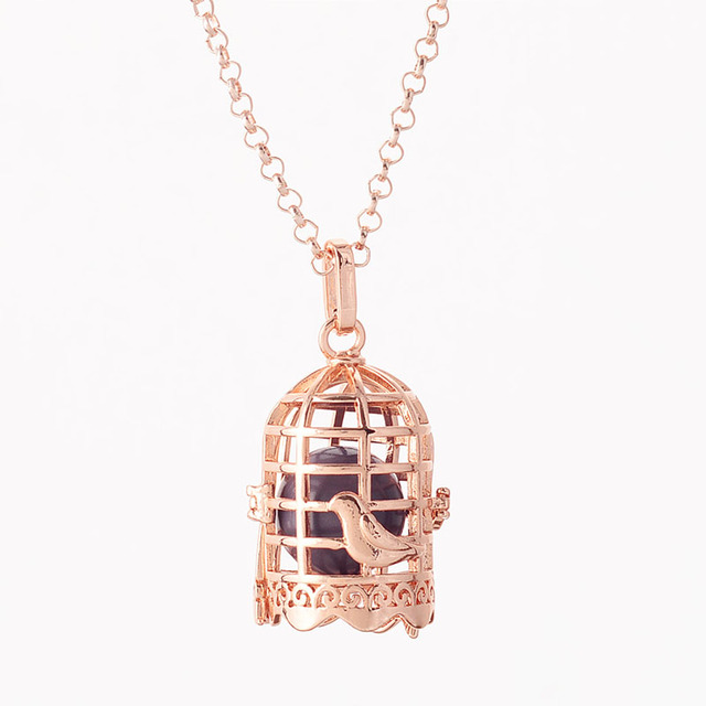 Pregnancy Necklace wish box Mexican Bola Harmony Ball DIY copper