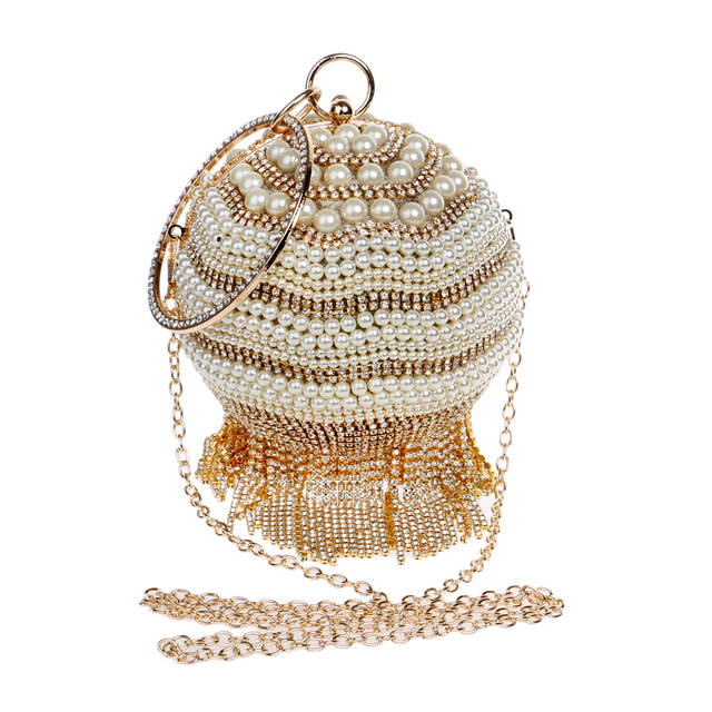 placeholder SEKUSA Crystal Beading Evening Bags Tassel Rhinestones Clutch  Two Side Diamonds Wedding Handbags Chain Shoulder Messenger 22d8dcf27d66