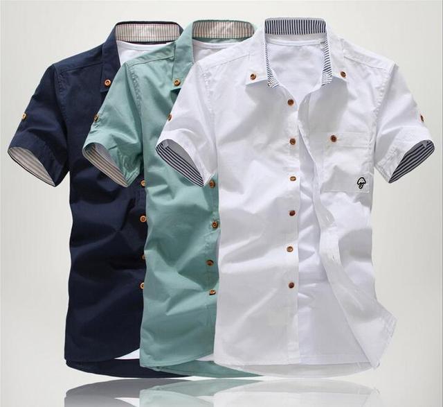 The new male shirts Men Korean Slim short-sleeved shirt dress shirt 2014 fashion men's shirts