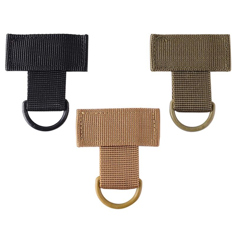 Outdoor Carabiner Hook Webbing Buckle Nylon Molle Belt Hanging Key Ring Clip
