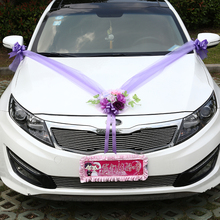 Artificial Flowers Wedding Car Decoration Sets Silk Rose Flowers Car Decor Car Roof Garland DIY Wedding Supplies