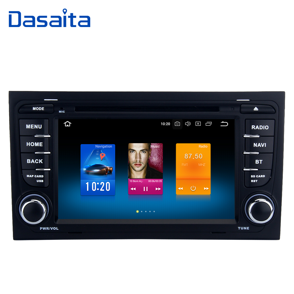 "7"" Android 8.0 Double Din Car Multimedia Player For Audi"