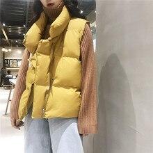 Осенне-зимняя Дамская обувь жилеты куртка толстое хлопковое пальто теплая Для женщин s куртка стеганая рукавов Скалозуб жилет женский