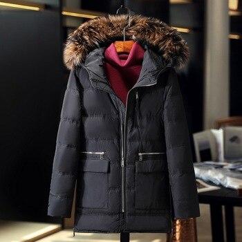 2017 winter jacket men coat duck down jacket with fur hood Removable parka men coat masculine jacket Plus Size 3XL