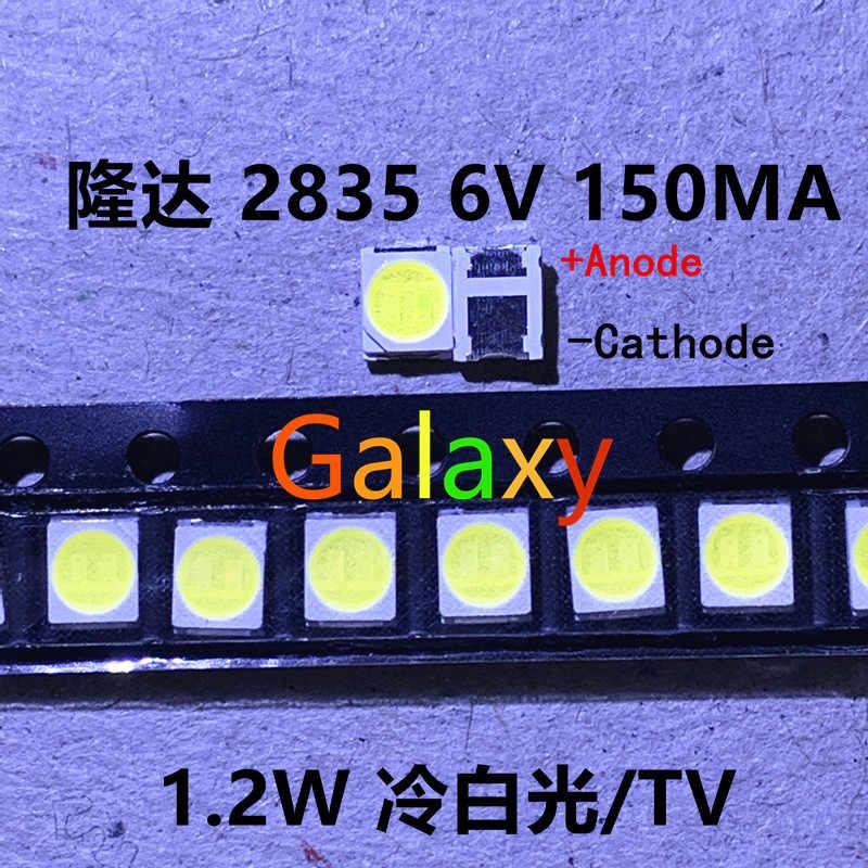 50 Buah Asli Lextar Electronics Corp 2835 3528 1210 6V 2W SMD LED untuk Perbaikan TV Backlight Dingin Putih LCD lampu Latar LED