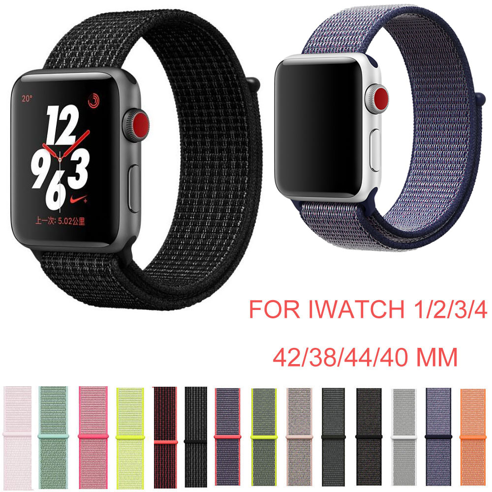 38mm 42mm 40mm 44mm Band for Apple Watch Series 1 2 3 4 Woven Nylon Band Strap for iWatch 4 Colorful Pattern Magnetic Clasp 20 colors sport band for apple watch band 44mm 40mm 38mm 42mm replacement watch strap for iwatch bands series 4 3 2 1