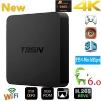 T95N Mini M8S Pro Android TV BOX 2G/ 8G Amlogic S905 Quad core cortex A53 Android 6.0 Support HDMI 2.4GHZ Wifi Streaming Media