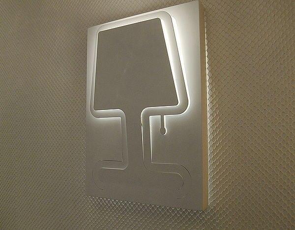 Italy Lighting Modern Minimalist Bedroom Lamp Bedside Lamp Wall Lamp 3D Corridor Lamp Light Art