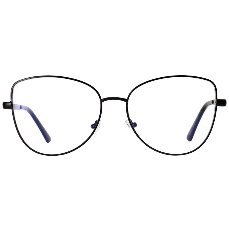 Clear Lens Glasses Men Women Retro Metal Frame Eyeglasses Wrap Cat ...