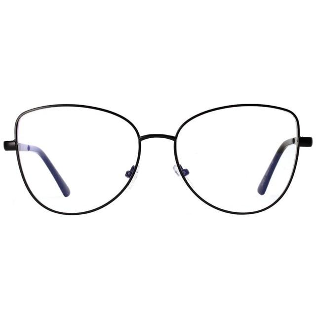 Clear Lens Glasses Men Women Retro Metal Frame Eyeglasses Wrap Cat ...