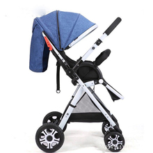 Lightweight bidirectional baby stroller folding car umbrella can sit can lie ultra-light portable on the airplane chidren pram цены