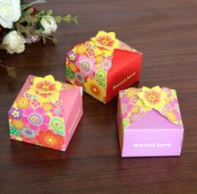 400pcs 2018 New Color Petal Box Wedding Candy Box