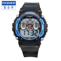 Pasnew Hot Sale Men Digital Multifunctional Waterproof Stopwatch Outdoor Sport Student Electronic Watch PSE 278B