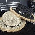 Fashion Sun Hat Women's Summer gorras sunscreen flowers belt Foldable Straw Hats For Women Beach Headwear 4 Colors Top Quality