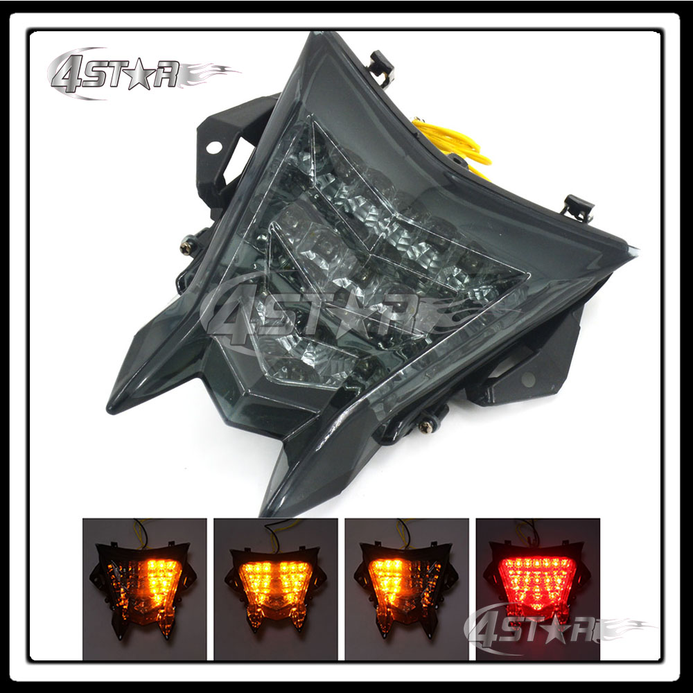 Free Shipping Somke LED Rear Turn Signal Tail Stop Light Lamps Integrated Brake Light Fit BMW S1000RR 10 11 12 13 14 15 16