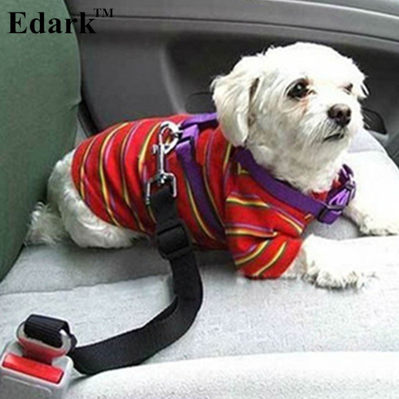 Edark Pet Dog Adjustable Car Safety Seat Belt Dogs Pets Seatbelt Cat Dog Carriers Leads Belts Dog Accessories