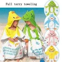 Baby Bathrobe Cartoon Baby Towel Cute Bathrobes For Children Strandlaken Kinderen Serviette Bath Robe Animal Cartoon DDC284