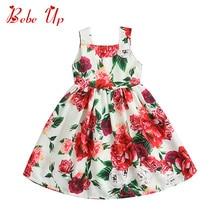 Flower Girl Dress Princess Kids Summer Designer Dresses For Toddler Girl Kids Fashion Clothes Sundress White With Floral Print стоимость