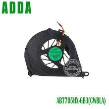 И розничная вентилятор охлаждения процессора для Toshiba Satellite L750 L655 l750D-14R серии ноутбука ADDA AB7705HX-GB3 CWBLA 0.50A 3pin