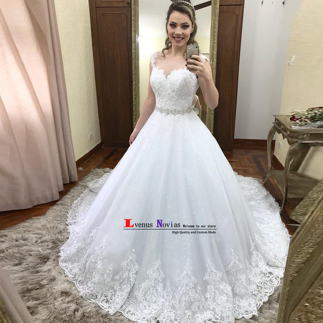 Aliexpress.com : Buy vestido de noiva Custom Made Wedding Gowns High ...