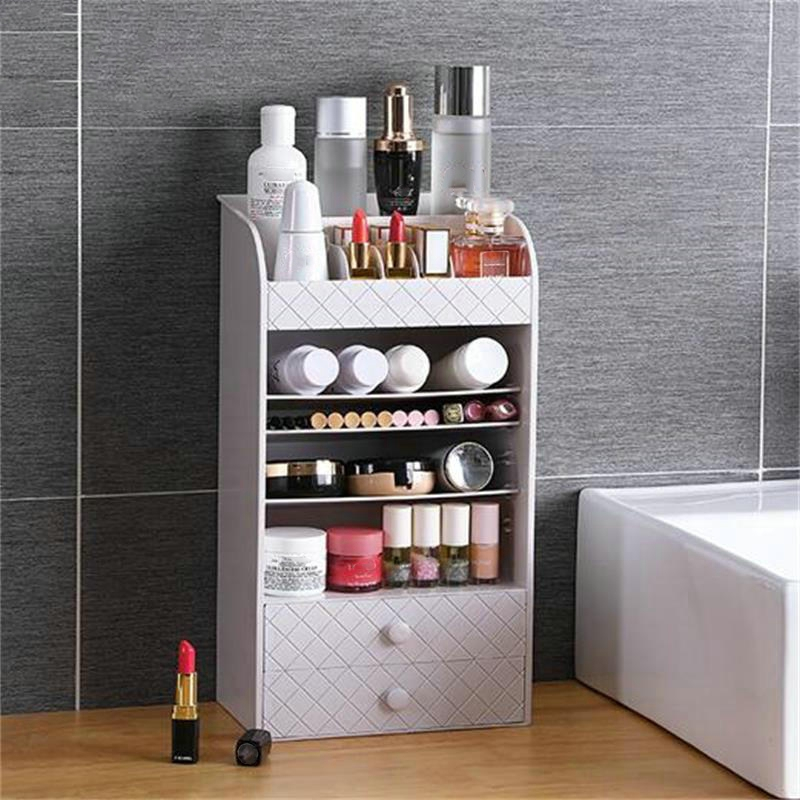 Jewelry Cosmetic Storage Box Small Drawer Organizer Box Multi Functional Desk Sundries Makeup Storage Case Container - 2