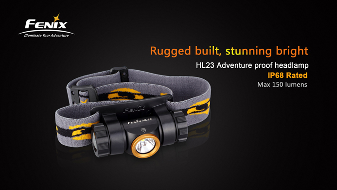 Image 2 - 2015 Best Selling Camping Head Lamp FENIX HL23 LED Waterproof AA Headlamp with Free Battery-in Headlamps from Lights & Lighting