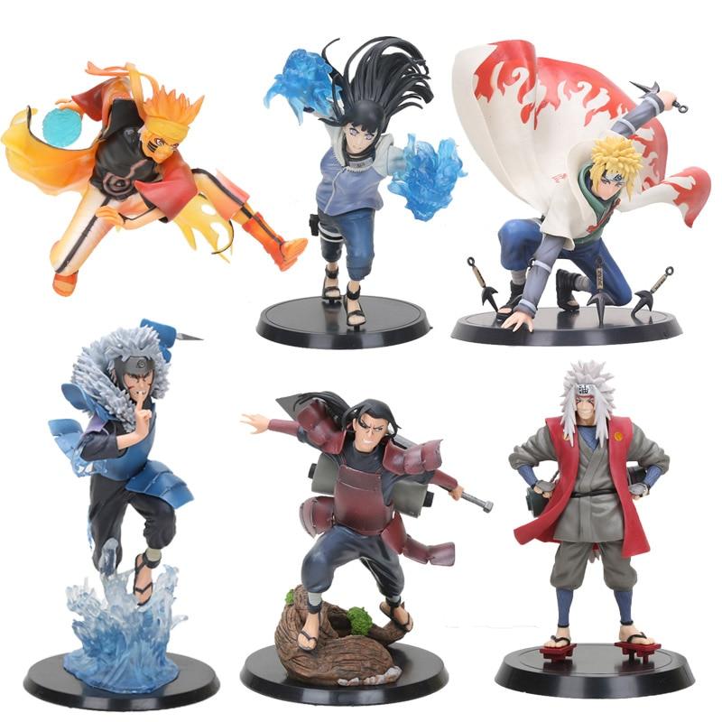 Anime Naruto Shippuden figure Brinquedos Tobirama Senju Hashirama Senju Jiraiya Minato Namikaze Kurama Hinata Figure PVC Toys(China)