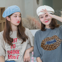 HT2537 Women Berets Breathable Spring Summer Cotton Beret Hat Vintage Octagonal Cap Artist Painter Retro French for