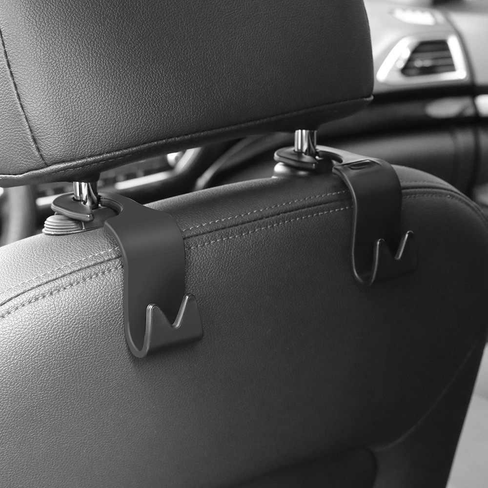 Universel voiture appuie-tête siège arrière crochet 4 pièces siège cintre véhicule support organisateur pour sacs à main sacs à main manteaux et sac d'épicerie
