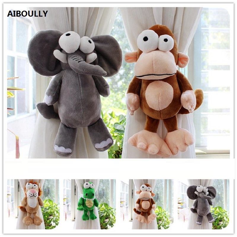 AIBOULLY 2Pcs set Lovely Big Elephant Animal Strap Curtain Clip Tie back Curtain Hook Accessories Curtain Buckle Decoration in Curtain Decorative Accessories from Home Garden