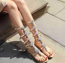 Flip Flop Mid-Calf Flat Heels Sandals