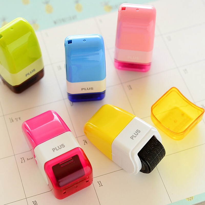 1pc Japan  Confidential seal colourful DIY Roller Stamp Date express list bill envelope making supplies japanese korea stationery portable mini roller secrecy stamp garbled seal graffiti seal teacher secrecy stamp