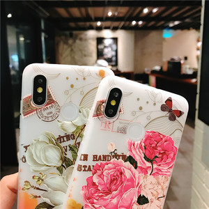 Image 3 - 3D relief flower silicone phone case New fashion phone cover  for iphone XS MAX XR 5 6 7 8 plus  Rose floral OPPO soft TPU Cover