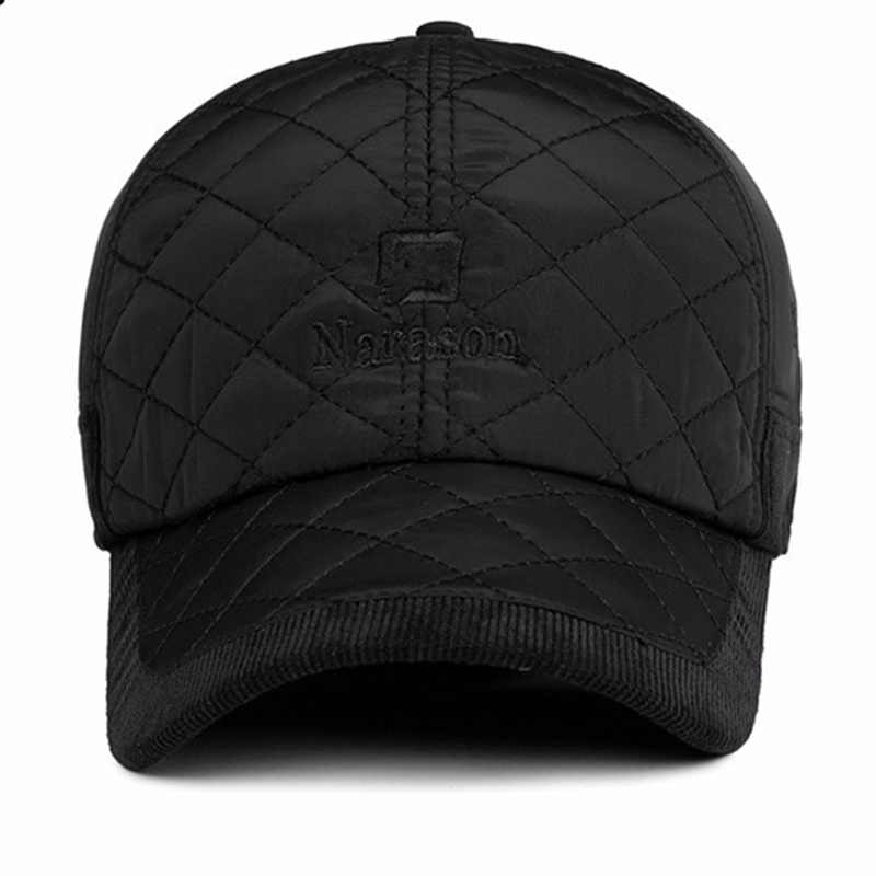 1011a11c330 ... VORON 2017 Warm Winter Baseball Cap Men Brand Snapback Black Solid Bone Baseball  Mens Winter Hats ...