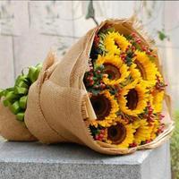 5 Yard Rolka Naturalny Len Kwiat Tkaniny Tkaniny Opakowanie Na Prezent Pakowania Papieru Florists Bukiet Ozdobny Papier Pakowy i Tied Liny 3