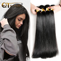 4 Bundles QT Hair Brazilian Virgin Hair Straight 10A Grade Unprocessed Human Hair Bundle Deals Soft  Straight Brazilian Hair