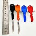 4PCS Protable Fold Key Knife Mini Camping Knife ,Outdoor Survival Tactical Pocket Knife Key Chain Peeler Tool