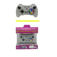 Gray Bluetooth Joypad Wireless Gamepad Remote Controller For Wii U Pro Wireless Controller Interworks Retro SNES Gamepad