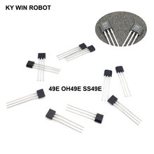 Interruptor linear de sensor, 10 peças 49e hall oh49e ss49e hall sensor de efeito novo de boa qualidade