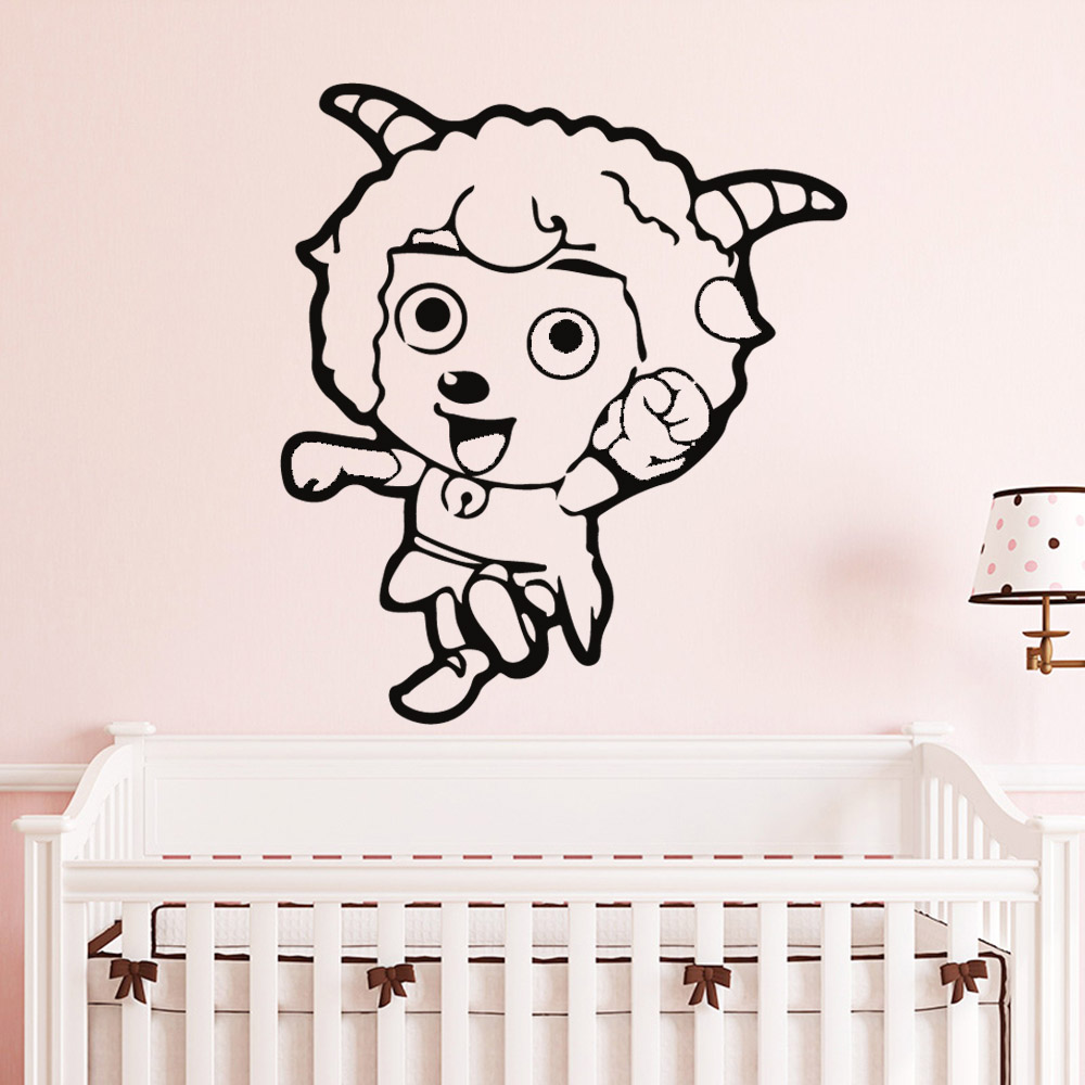 Artistic Pretty Sheep Wall Stickers Home Decor For Kids