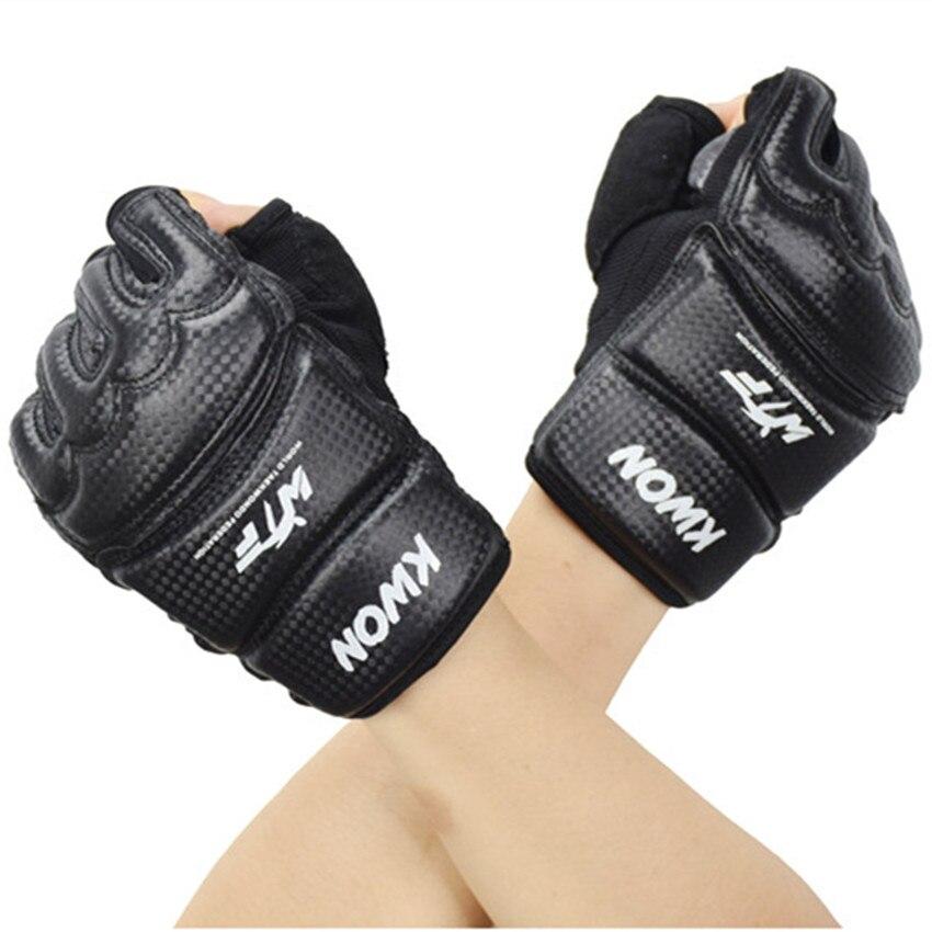 Luvas de Boxe Crianças Adulto Metade Dedo Karate Sandbag Taekwondo Luvas Protetor Kick Boxing –