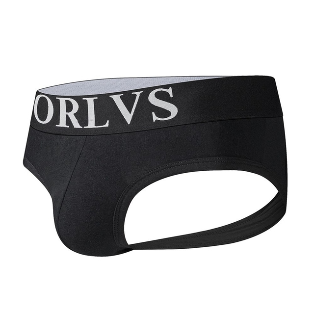 ORLVS Brand Sexy Men Underwear Jock Straps Briefs Bikini Men Jockstraps cueca Gay Penis Pouch Thong G Strings Modal Breathable