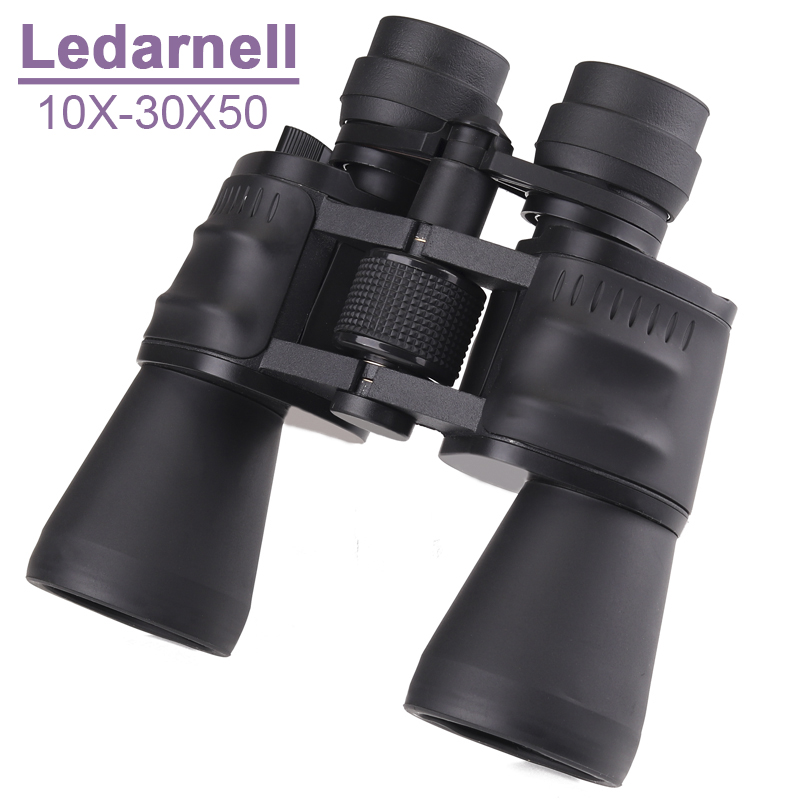 Ledarnell 10-30X50 power zoom glass Binoculars professional telescope for hunting high quality monocular telescope binoculars high power portable binoculars telescope hunting telescope metal body waterproof ingress protection 4