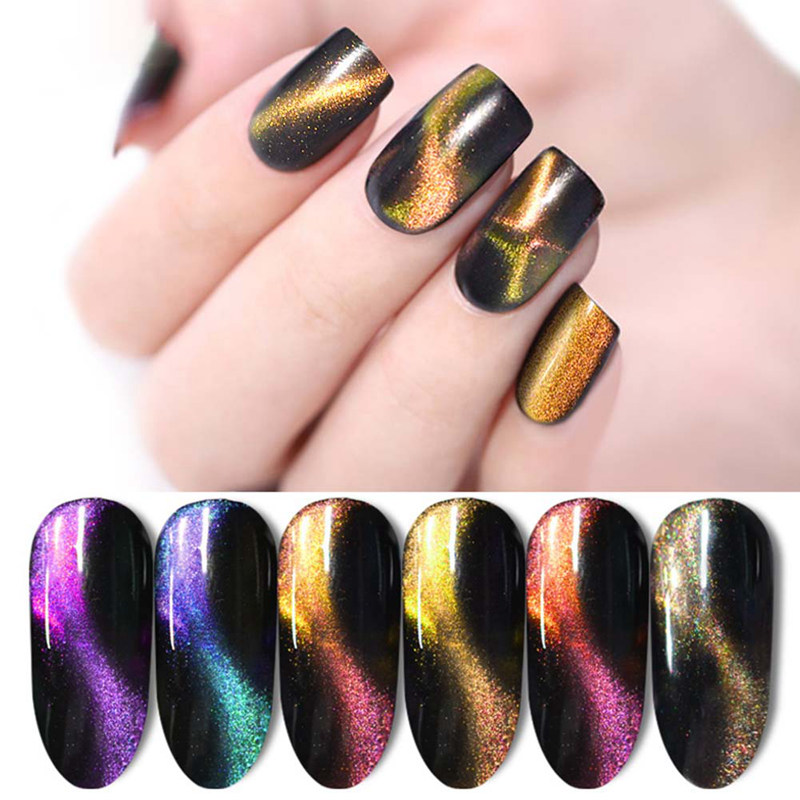 3d Cat Eye Nail Polish Magnetic Aurora Series Magic Stick Gradient 10ml Varnish Nail Art Lucky Lacquer Semi Permanent Nail Gel