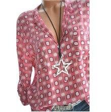 Women's Shirts Spring Summer Casual V-neck Loose Chiffon Blouse Women Top Camisa Feminina Long Sleeve Ladies Print Blouses Shirt стоимость