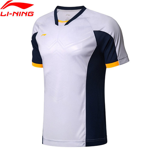 Li-Ning Men Soccer Series Competition T-Shirt AT DRY Breathable Regular Fit LiNing Comfort Sport T-shirts AAYL189 MTS2767